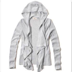 Hollister hooded knit waterfall cardigan